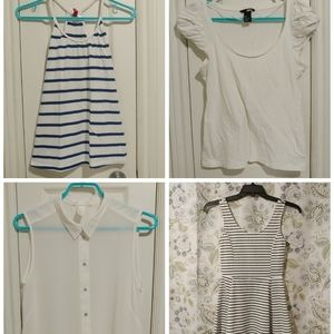 4 piece H&M womens tops & dress bundle